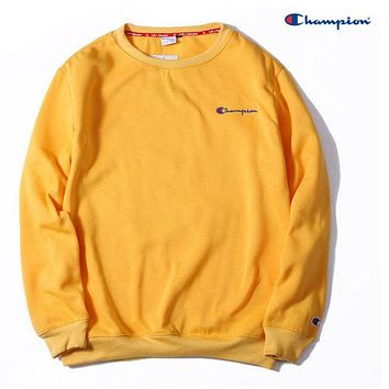Champion men and women tide fashion embroidery round neck thick sweater F