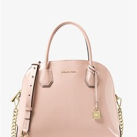 Mercer Large Patent Leather Dome Satchel | Michael Kors