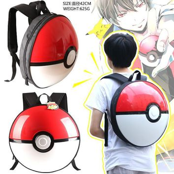 2017 Creative Pocket Monster backpack wizard ball Pokemon Go student school modeling backpacks SUPER QUALITY
