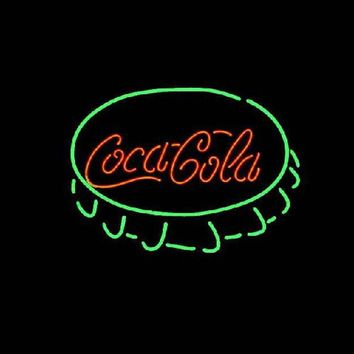 Coca Cola Cap Neon Sign Real Neon Light