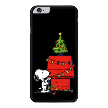 Snoopy And Christmas Tree - Black iPhone 6 Plus / 6S Plus Case
