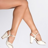 Aria Heel in Off-White