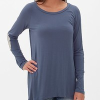 BKE Red Scoop Neck Top