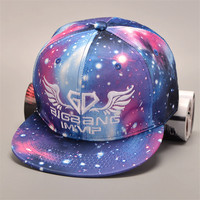 Men and women of unique fashion colorful sky flat brimmed hat Hip-Hop baseball cap lovers snapback caps