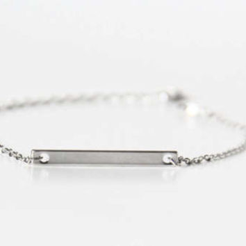 Silver bracelet, custom stamped, dainty, bar bracelet,sister mother daughter/best friend gift, bridesmaid gift, made in USA, FREE SHIPPING!
