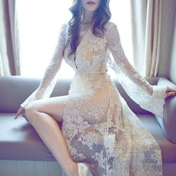 New Fancy Gown Maternity Photography Props Long Lace Dress Pregnant Dress For Photo Shoot Maternity Clothes for Pregnant Women