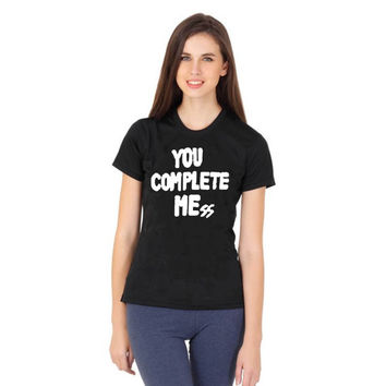 5 Seconds of Summer Logo Luke Hemmings you complete me mess women tshirt ----- size S,M,L,XL,2L,3XL