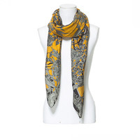LEAF PRINT NECK SCARF - Scarves - Accessories - Woman | ZARA Canada