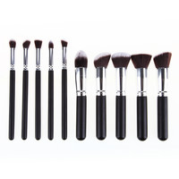 BLANK LABEL Cosmetic Professional 10pcs Makeup Brushes Set Tool Beauty