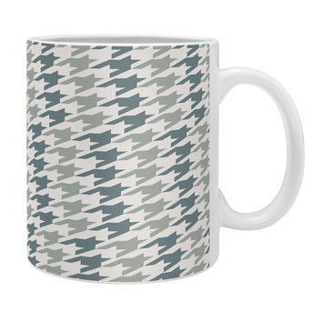 Allyson Johnson Classy Blue Houndstooth Coffee Mug