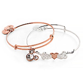Mickey and Minnie Mouse Valentine's Day Bracelet Set by by Alex and Ani