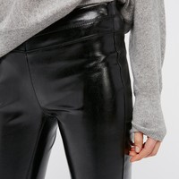 Free People Patent Vegan Leather Leggings