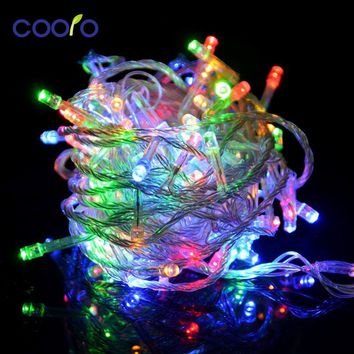 110v/220V Led String Christmas Lights 10m/100leds With 8 Modes Christmas decorations for Home / Holiday / Party / Wedding