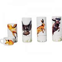 Forest Animals Porcelain Stacking Cups