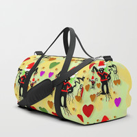 Santa with friends and season love Duffle Bag by Pepita Selles