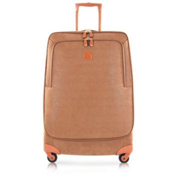 Bric's Designer Travel Bags Life Camel Micro Suede Large Trolley