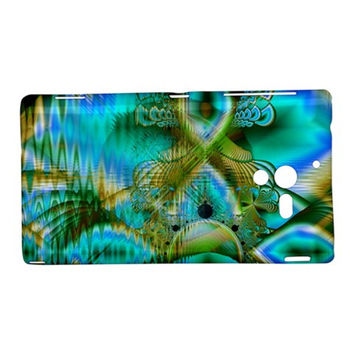 Crystal Gold Peacock, Abstract Mystical Lake Sony Xperia ZL (L35H) Hardshell Case