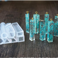 Liquid silicone mold DIY resin jewelry pendant necklace pendant lanugo mold