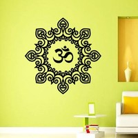 Mantra Om Yoga Mandala Wall Decal Vinyl Sticker Wall Decor Home Interior Design Art z363