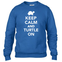 Keep calm and turtle on Crewneck sweatshirt