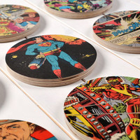 Superhero Comic Book Original Set Of Nine Wall Art