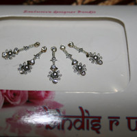 Body Bindi Jewelry in Designer Crystal Rhinestone Base Collection.