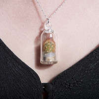 Living Cactus Succulent Necklace
