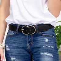 Double Loop Buckle Belt | Black