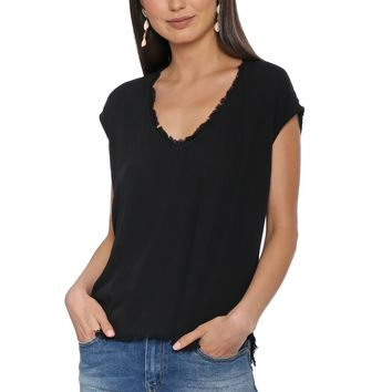 Decker Jackie Frayed Top