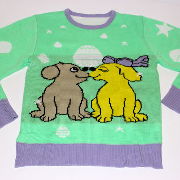 Adult Easter Sweater - Puppy Love