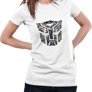 Optimus Prime Inspired Autobot Transformers (Multicolored) Woman T-Shirt