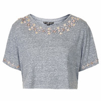 PETITE DIAMANTE NECKLACE TEE