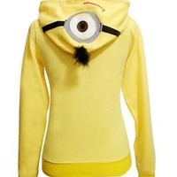 Pokemon Pikachu/Stitch/Despicable Me Minion Hoodies Hooded Zip Jacket Top Coat
