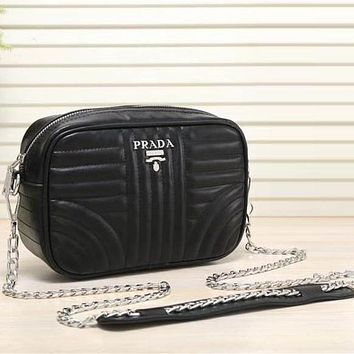 Prada Women Fashion Leather Satchel Shoulder Bag Crossbody