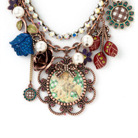 Betsey Johnson 'Dream Closet' Multi Chain Charm Necklace | Nordstrom