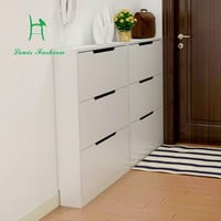 17CM narrow shoe wooden three turning plate wall shoe slim three bucket shoe cabinet room door side wall-in Shoe Cabinets from Furniture on Aliexpress.com | Alibaba Group