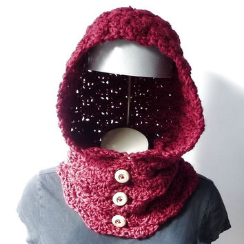 Hooded Cowl Pattern Crochet Cowl Pattern CROCHET PATTERN Cowl Crochet Pattern Hood Cowl Neckwarmer Crochet Neck Warmer Pattern Neckwarmer