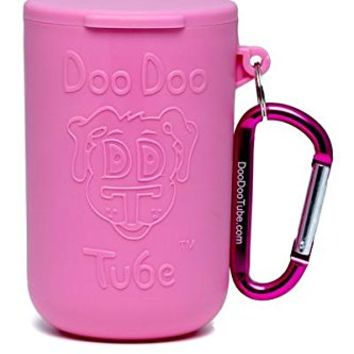 Doo Doo Tube Filled Dog Waste Bag Holder - Reusable Dog Poop Bag Tube Designed to Keep in Odors and Germs