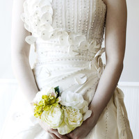 Sample Sale - Flower Fairy Wedding Bridal Dress with Bling for a Boho or Alternative Wedding