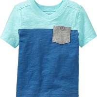 Colorblock V-Neck Tees for Baby