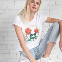 Wild At Heart Rose Boxy Graphic Tee