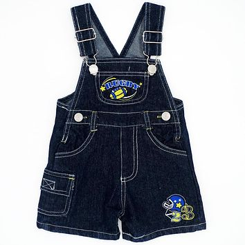 Rugby Pattern Random Color 4 Size Baby Boys Girls Bib Pants Summer Children Sling Infant Jeans Kids Clothing JJYZ133