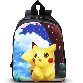 cartoon School Bags Kids Pokemon Backpack Boys Girls Kawaii Pikachu Mochila Infantil kindergarten low grade Student School Bag