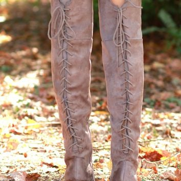 Get With It Tall Boot Taupe