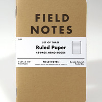 Ruled Paper Set of 3 Memo Books