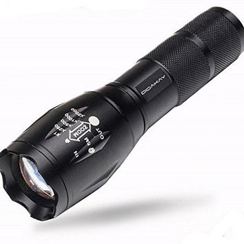 Didakay Super Bright LED Tactical Flashlight 3000 Lumen Zoomable Handheld w/ Adj Focus and w/ 2 Free e-books
