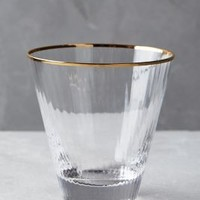 Annecy DOF Glass by Anthropologie in Gold Size: Tumbler Kitchen