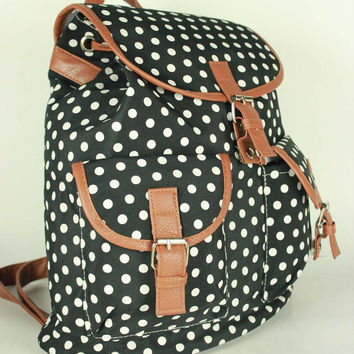 Summer Autumn Backpack Canvas Casual Travel Bags [8070740615]