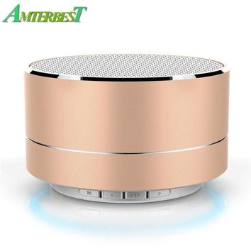 AMTERBEST Mini Portable Wireless Bluetooth Speaker Subwoof Sound Stereo Music Player With Mic TF Outdoor Bass speaker