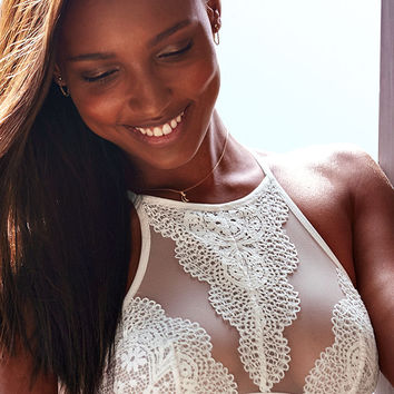Crochet Lace High-neck Bralette - Body by Victoria - Victoria's Secret